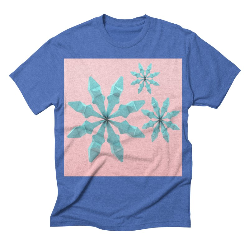 Snowflake (cyan and pink) Men's Triblend T-shirt by Me&My3D