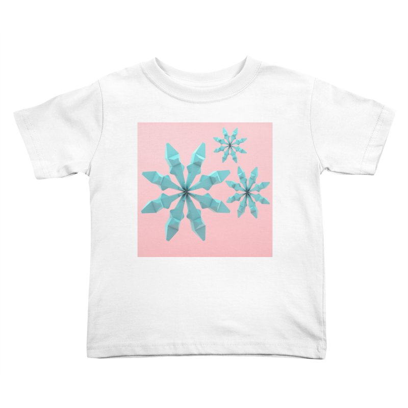 Snowflake (cyan and pink) Kids Toddler T-Shirt by Me&My3D