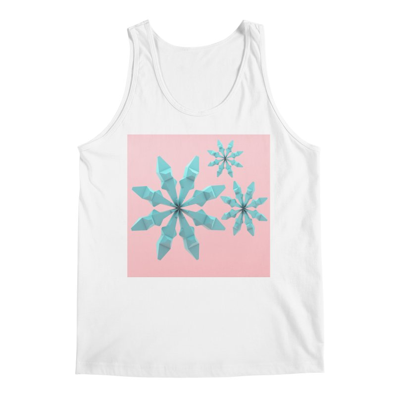Snowflake (cyan and pink) Men's Tank by Me&My3D