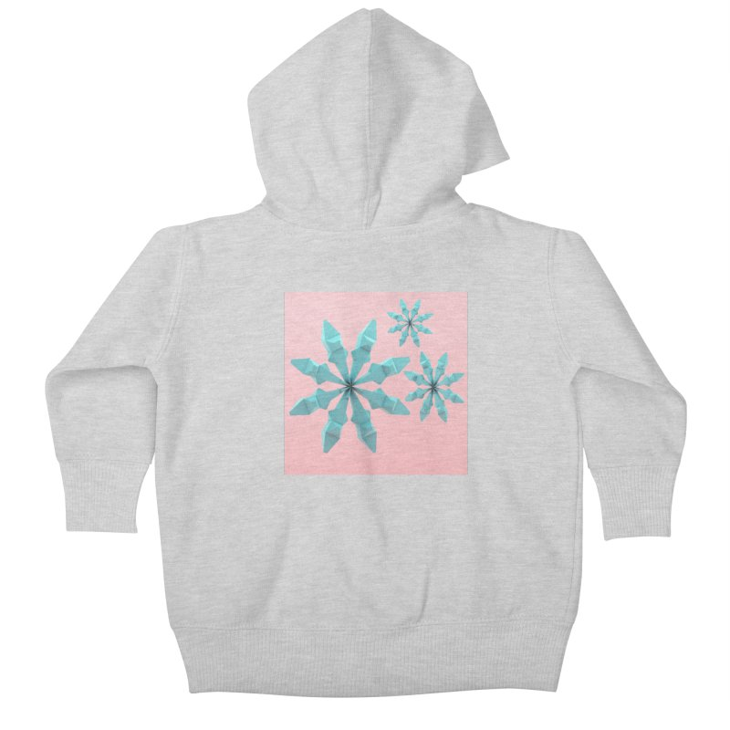 Snowflake (cyan and pink) Kids Baby Zip-Up Hoody by Me&My3D