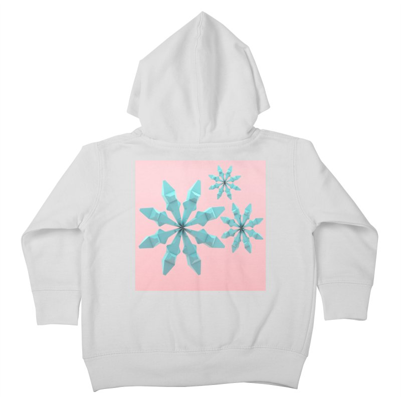 Snowflake (cyan and pink) Kids Toddler Zip-Up Hoody by Me&My3D