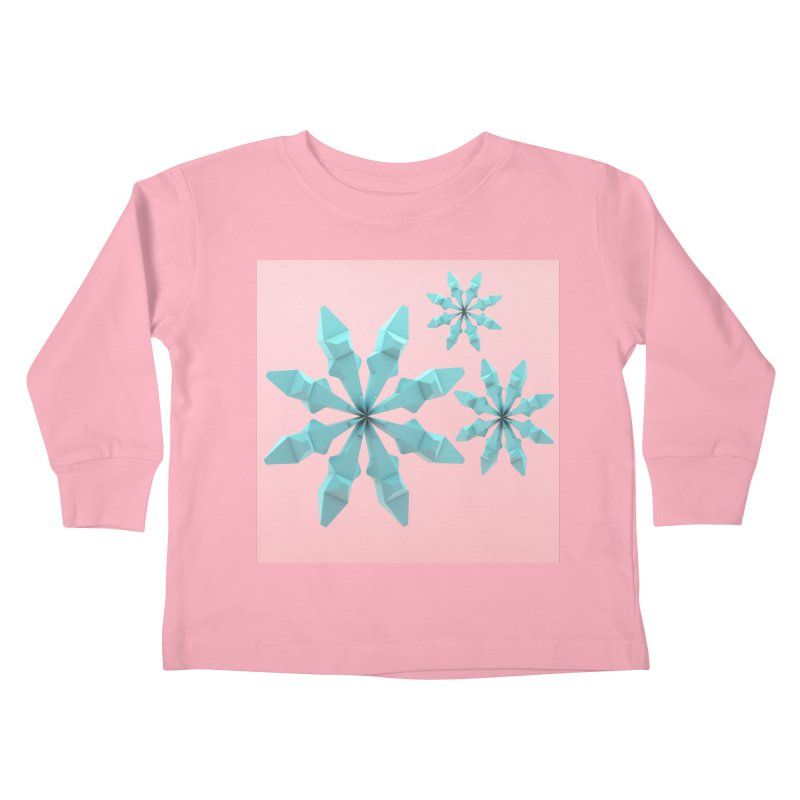 Snowflake (cyan and pink) Kids Toddler Longsleeve T-Shirt by Me&My3D