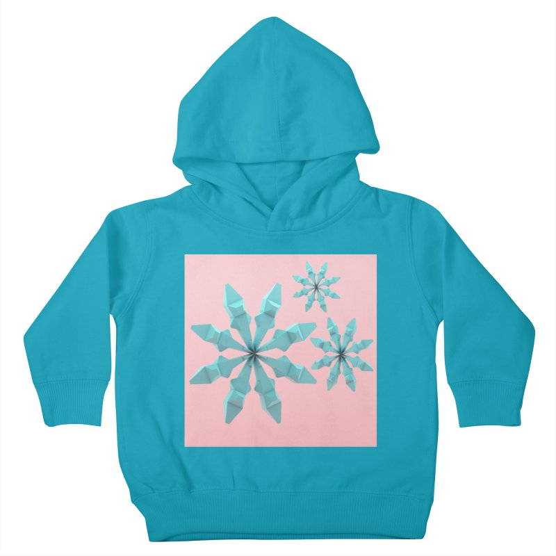 Snowflake (cyan and pink) Kids Toddler Pullover Hoody by Me&My3D