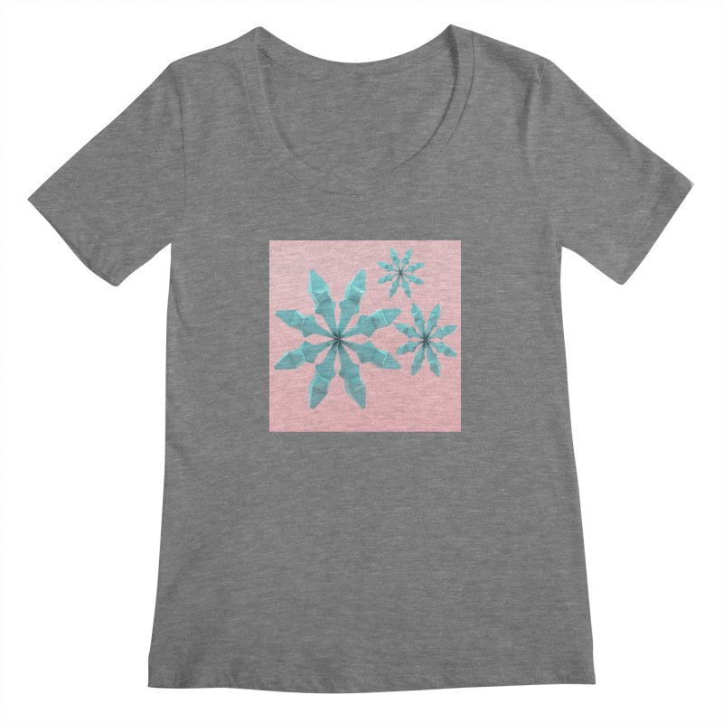 Snowflake (cyan and pink) Women's Scoopneck by Me&My3D