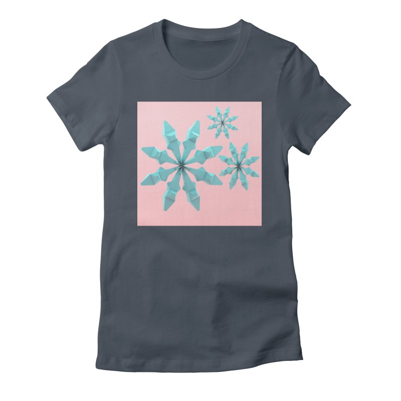 Snowflake (cyan and pink) Women's T-Shirt by Me&My3D