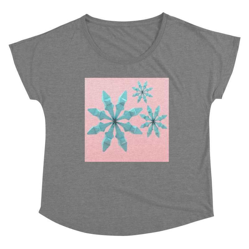 Snowflake (cyan and pink) Women's Scoop Neck by Me&My3D