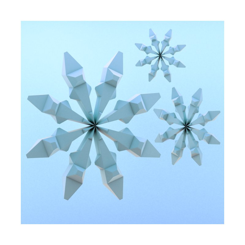 Snowflakes (blue) Women's T-Shirt by Me&My3D