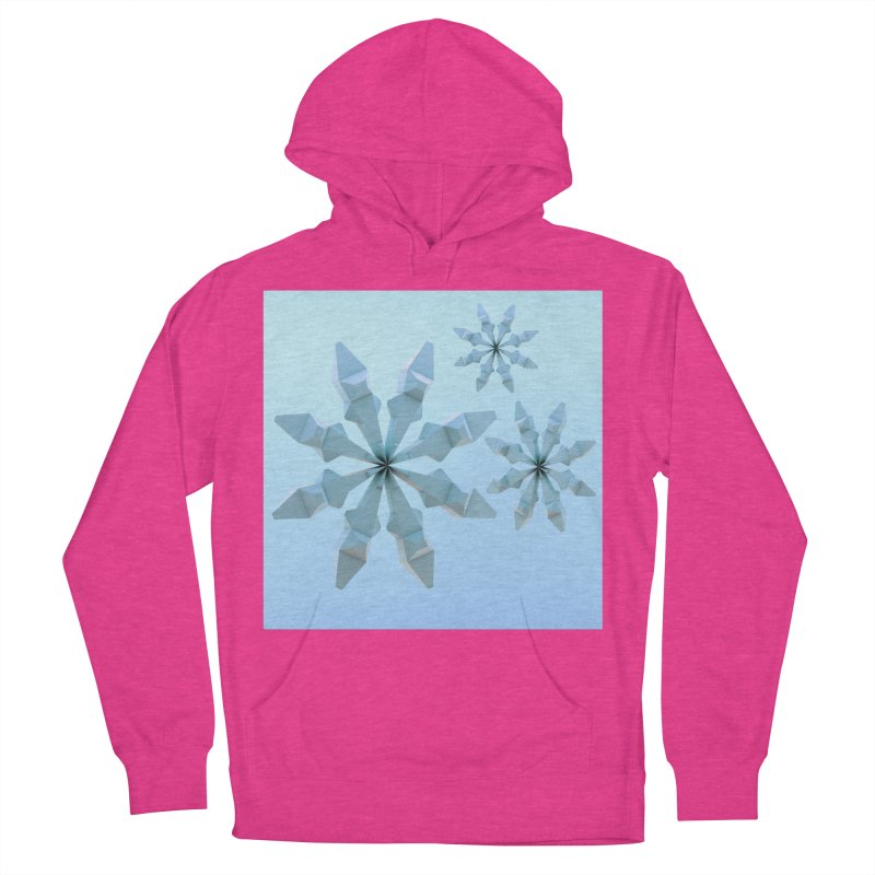 Snowflakes (blue) Women's Pullover Hoody by Me&My3D