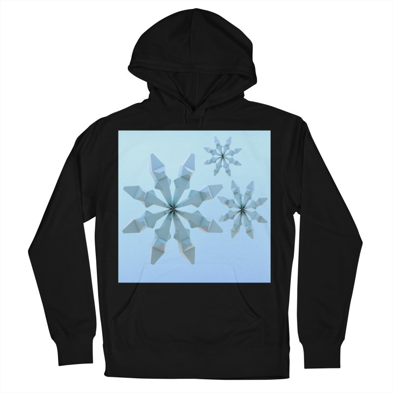 Snowflakes (blue) Women's French Terry Pullover Hoody by Me&My3D