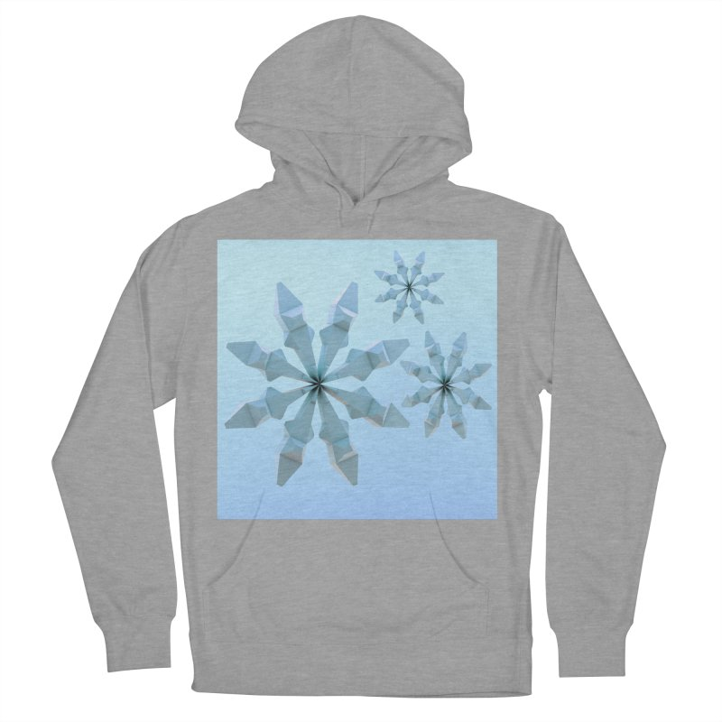 Snowflakes (blue) Men's Pullover Hoody by Me&My3D