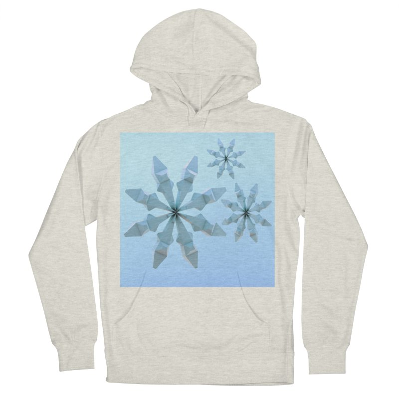 Snowflakes (blue) Men's French Terry Pullover Hoody by Me&My3D