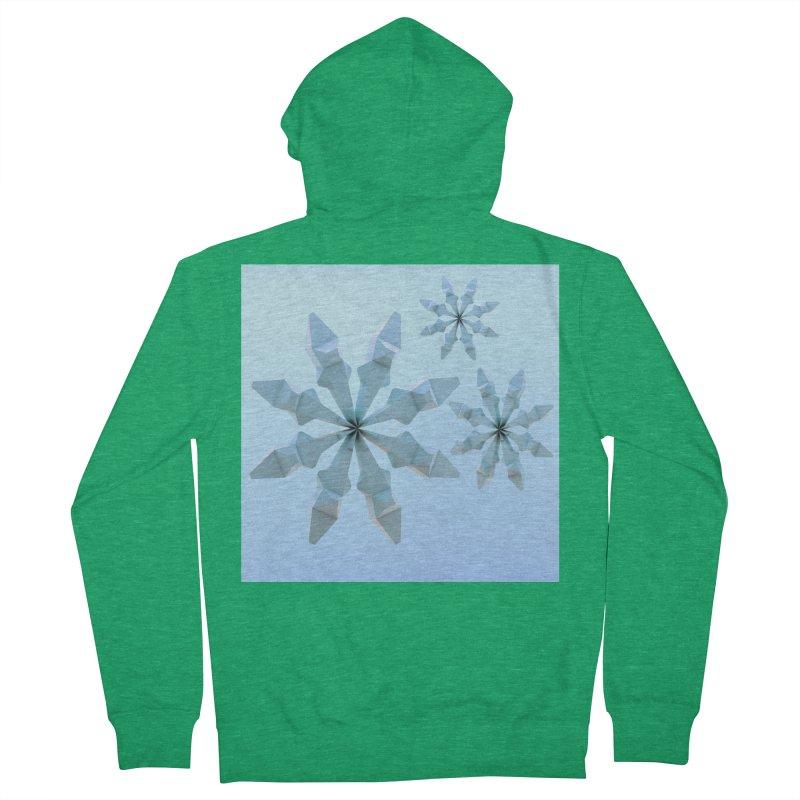 Snowflakes (blue) Women's Zip-Up Hoody by Me&My3D