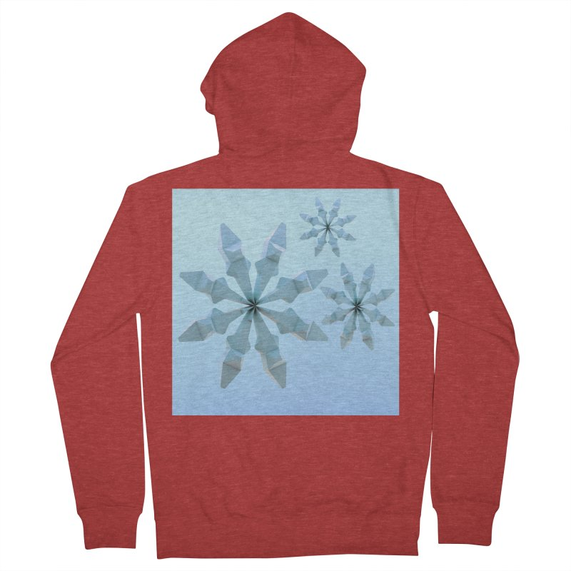 Snowflakes (blue) Women's Zip-Up Hoody by Me&My3D