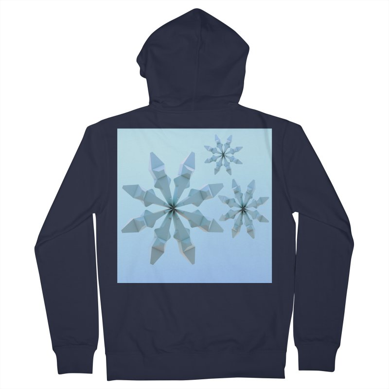 Snowflakes (blue) Women's French Terry Zip-Up Hoody by Me&My3D