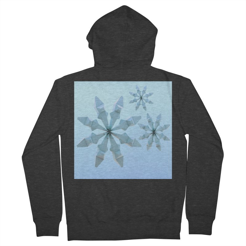Snowflakes (blue) Men's Zip-Up Hoody by Me&My3D