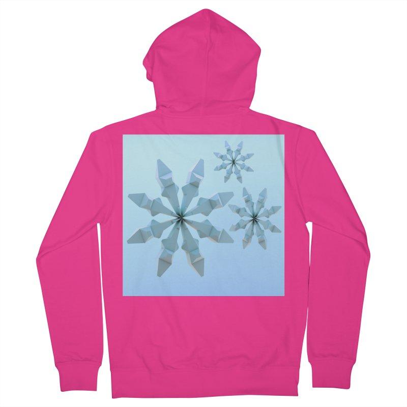 Snowflakes (blue) Men's Zip-Up Hoody by Me&My3D