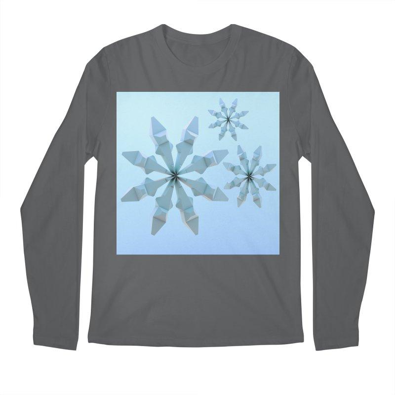 Snowflakes (blue) Men's Longsleeve T-Shirt by Me&My3D