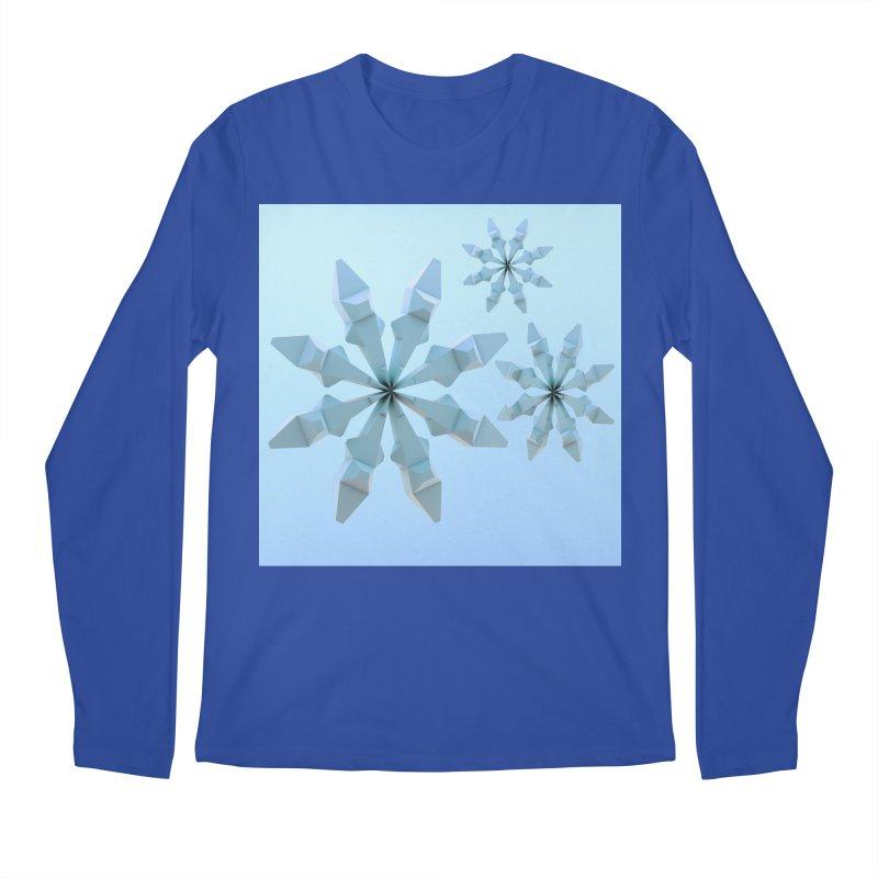 Snowflakes (blue) Men's Regular Longsleeve T-Shirt by Me&My3D