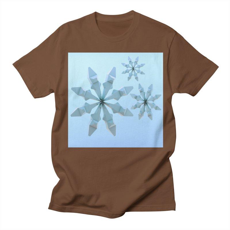Snowflakes (blue) Women's Unisex T-Shirt by Me&My3D
