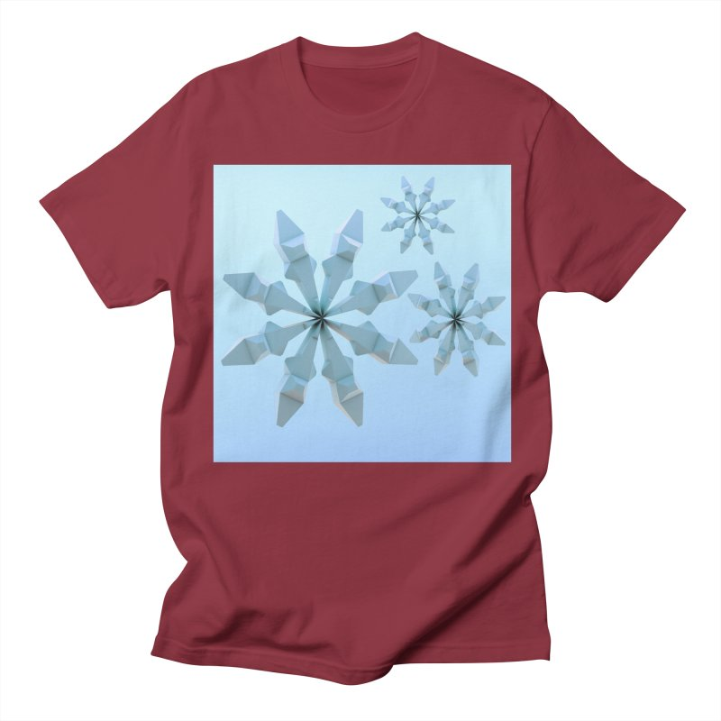 Snowflakes (blue) Women's Regular Unisex T-Shirt by Me&My3D