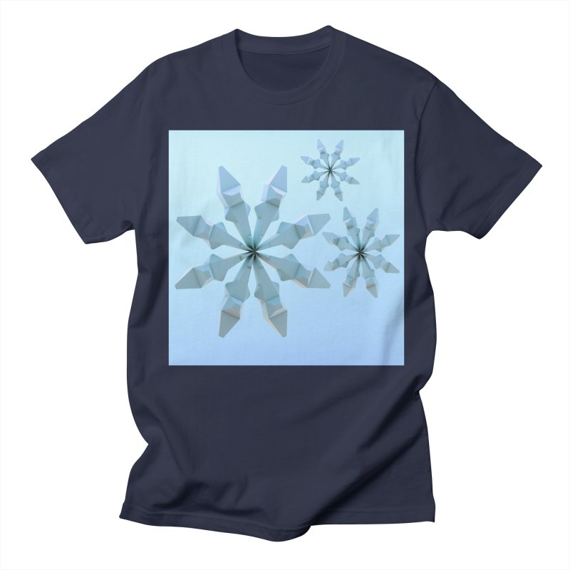 Snowflakes (blue) Men's T-shirt by Me&My3D