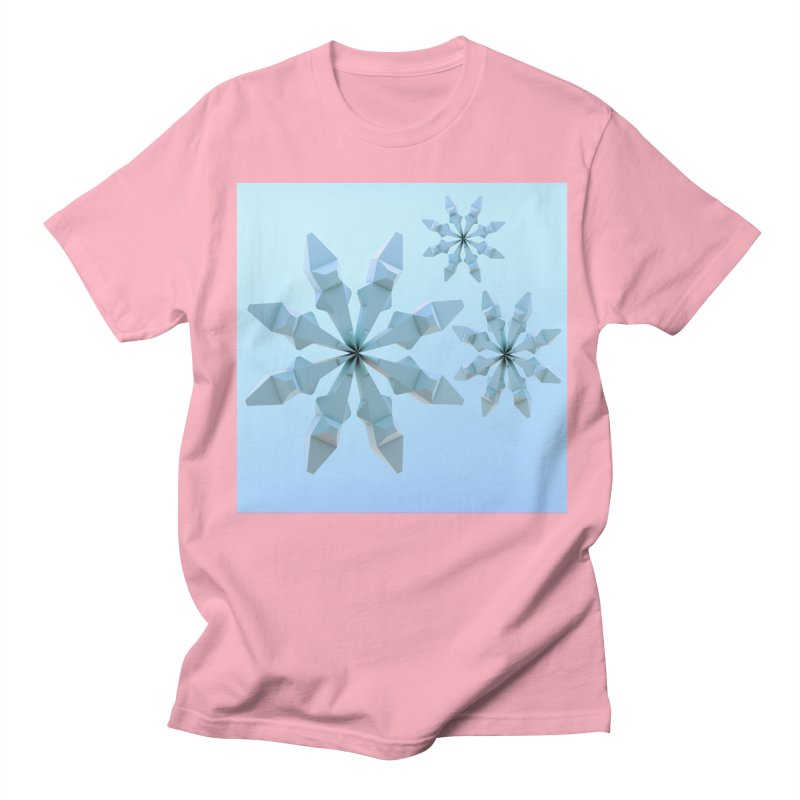 Snowflakes (blue) Men's Regular T-Shirt by Me&My3D