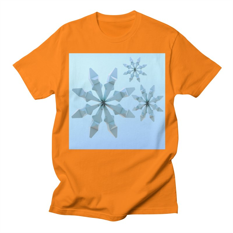 Snowflakes (blue) Women's Regular Unisex T-Shirt by Me&My3D