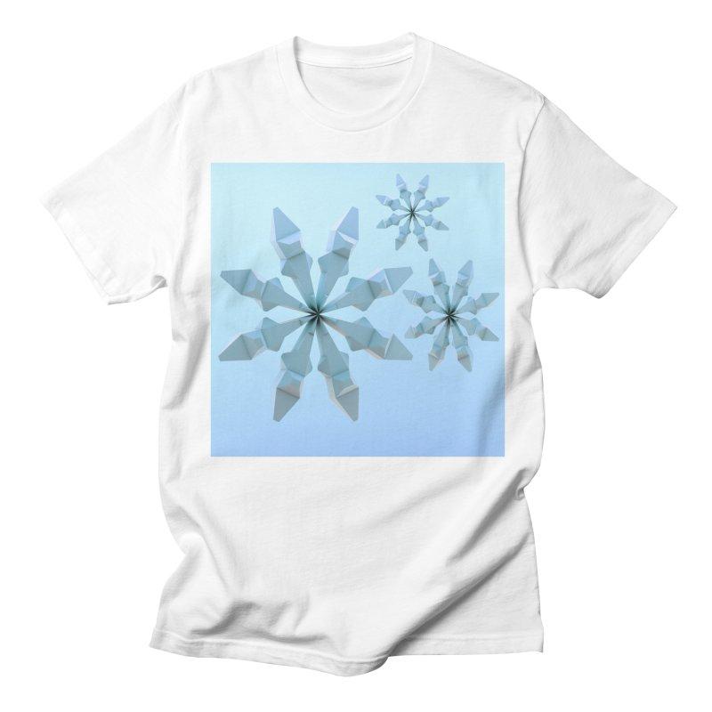 Snowflakes (blue) Men's Regular T-Shirt by Me&My3D