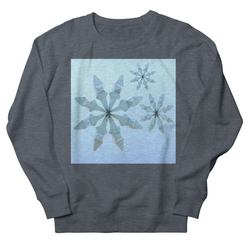 Snowflakes (blue) Women's French Terry Sweatshirt by Me&My3D
