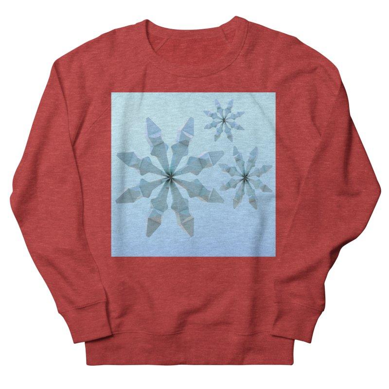 Snowflakes (blue) Men's Sweatshirt by Me&My3D