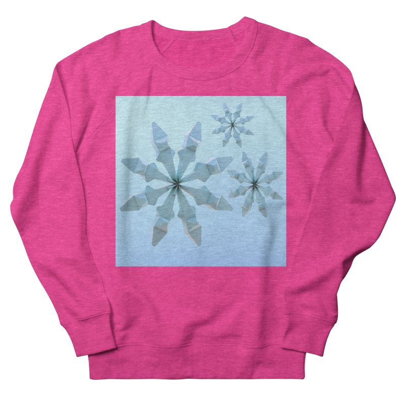Snowflakes (blue) Men's French Terry Sweatshirt by Me&My3D