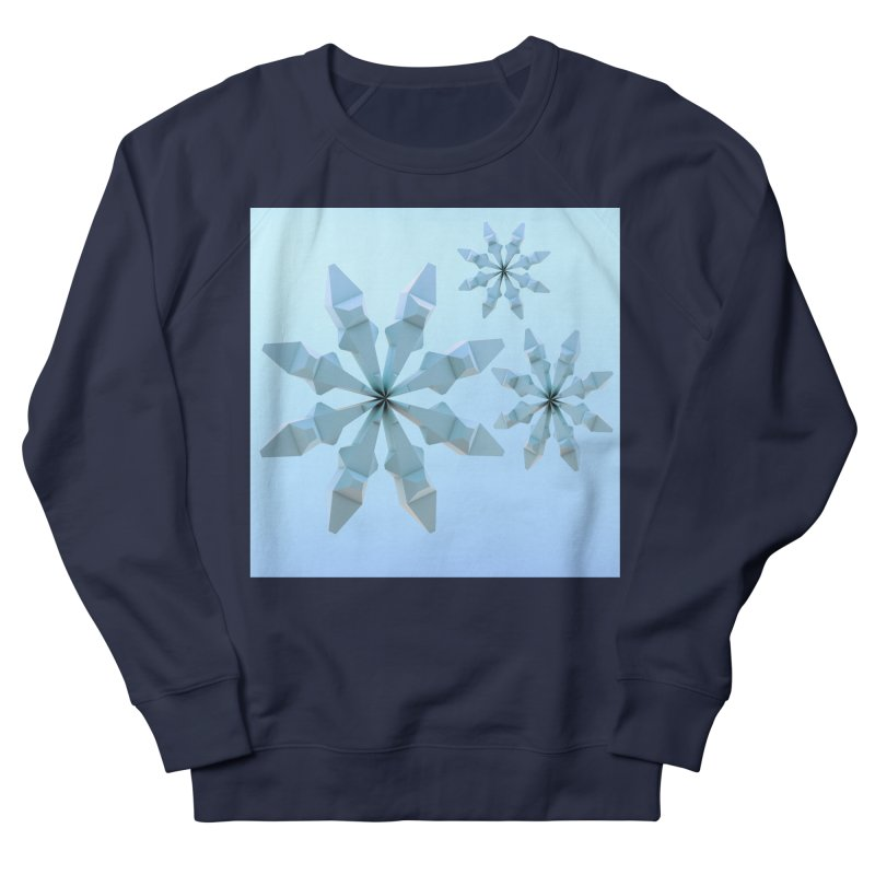 Snowflakes (blue) Men's Sweatshirt by Me&My3D