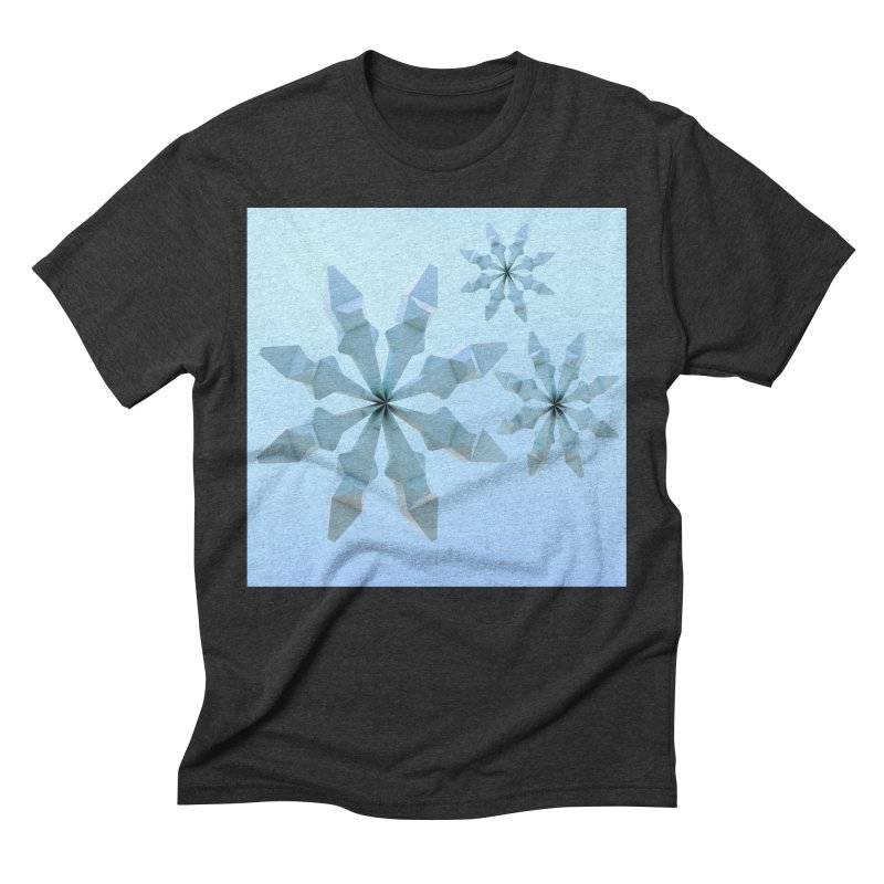 Snowflakes (blue) Men's Triblend T-Shirt by Me&My3D