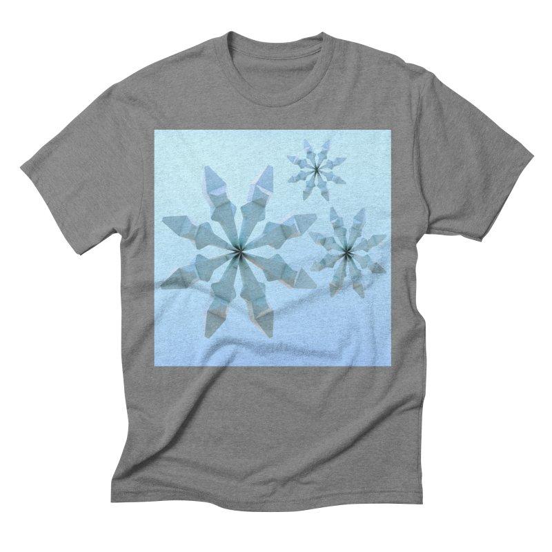 Snowflakes (blue) Men's Triblend T-Shirt by Me&My3D
