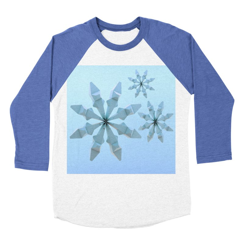 Snowflakes (blue) Women's Baseball Triblend T-Shirt by Me&My3D