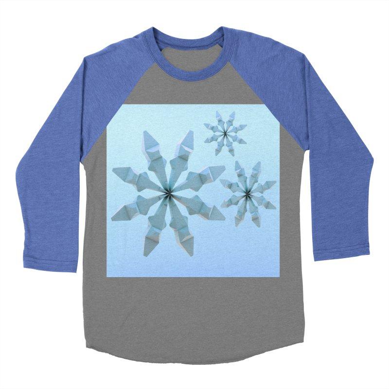 Snowflakes (blue) Men's Baseball Triblend Longsleeve T-Shirt by Me&My3D