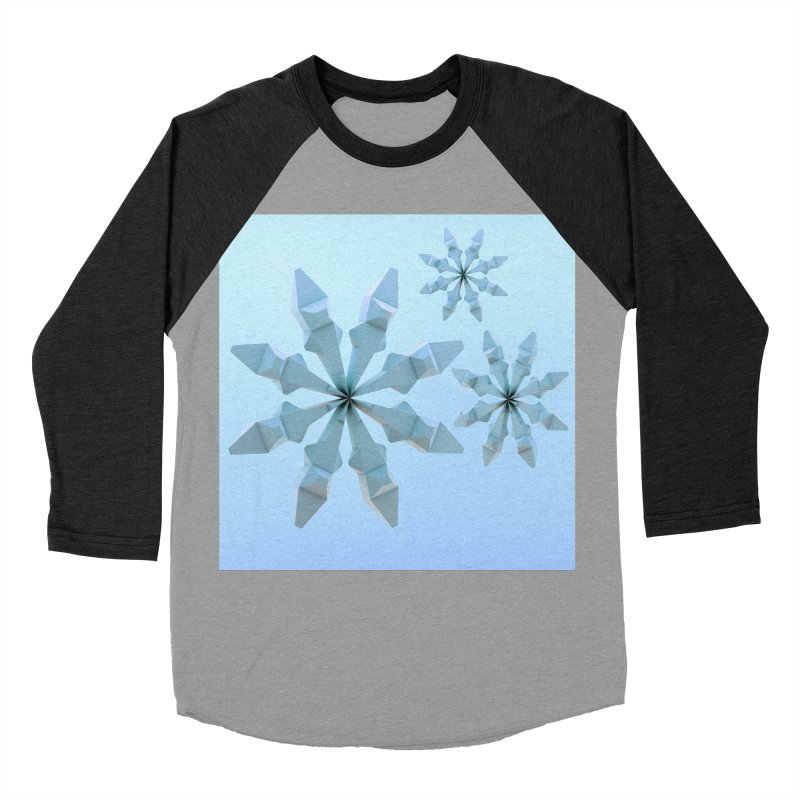 Snowflakes (blue) Men's Baseball Triblend Longsleeve T-Shirt by Me&My3D