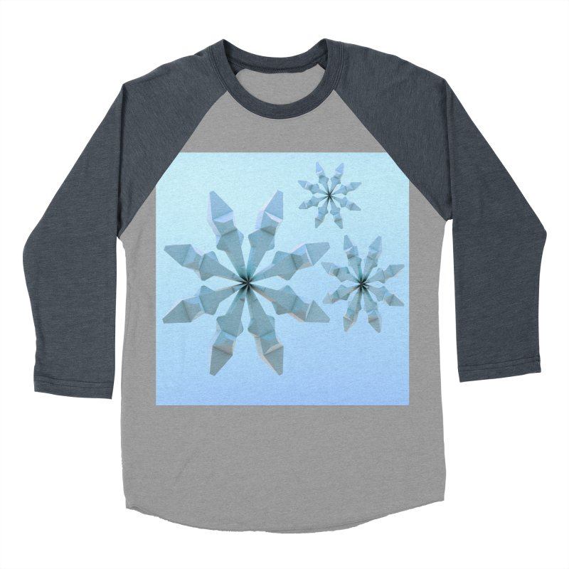 Snowflakes (blue) Men's Baseball Triblend T-Shirt by Me&My3D
