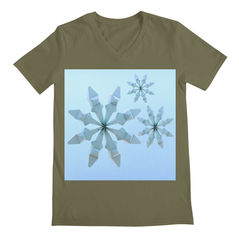 Snowflakes (blue) Men's Regular V-Neck by Me&My3D