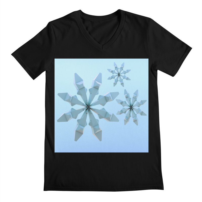Snowflakes (blue) Men's V-Neck by Me&My3D