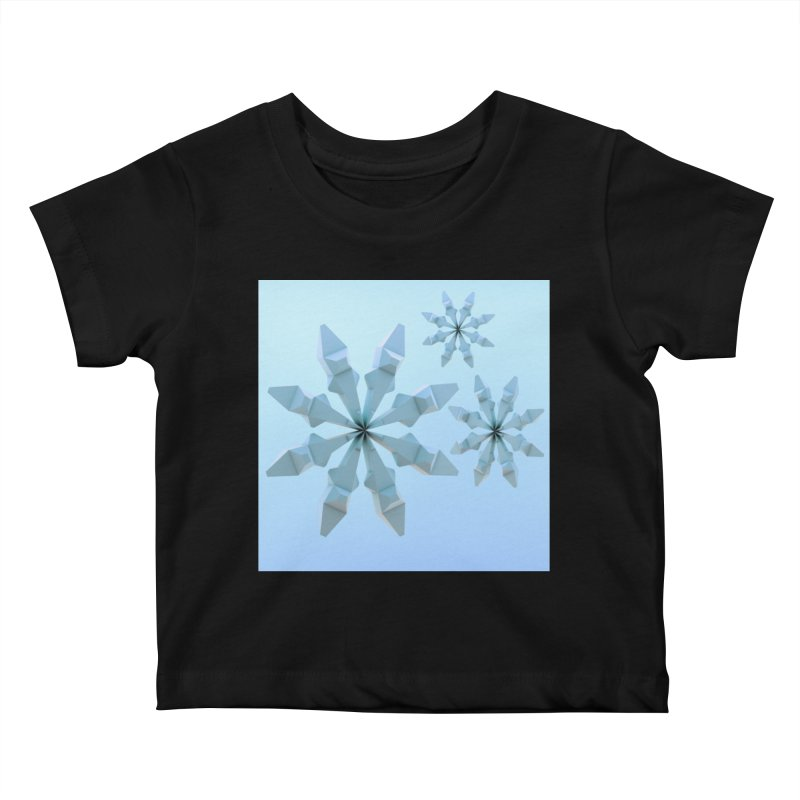 Snowflakes (blue) Kids Baby T-Shirt by Me&My3D