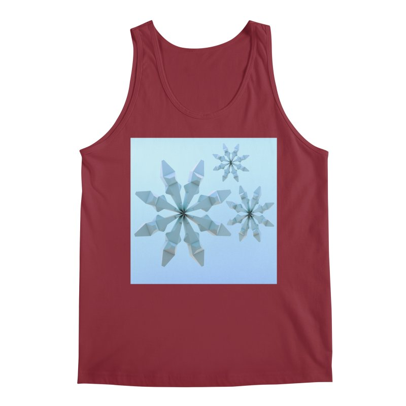 Snowflakes (blue) Men's Tank by Me&My3D