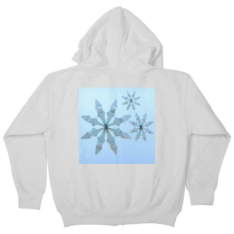 Snowflakes (blue) Kids Zip-Up Hoody by Me&My3D