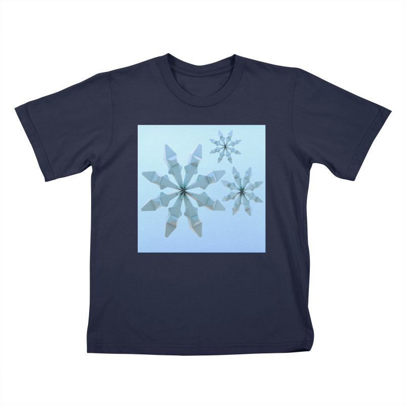 Snowflakes (blue) Kids Toddler T-Shirt by Me&My3D