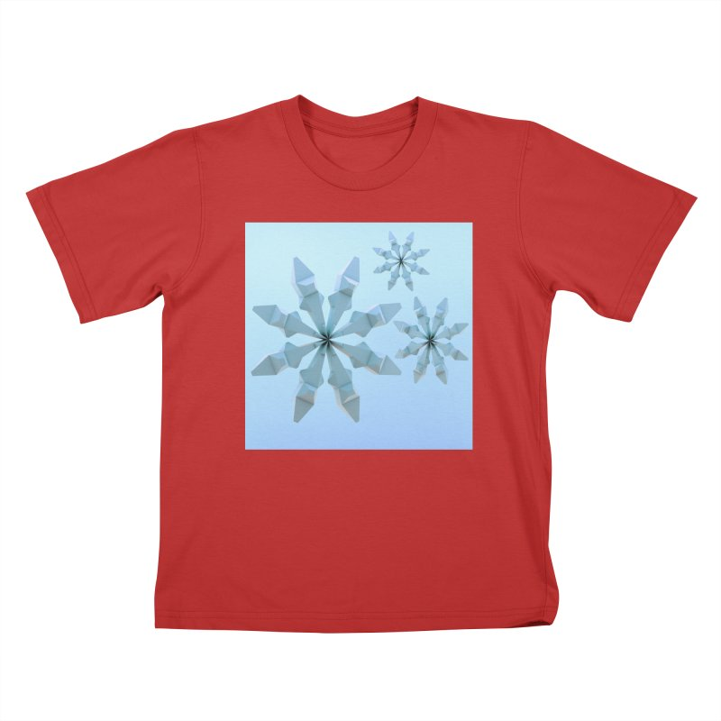 Snowflakes (blue) Kids T-Shirt by Me&My3D