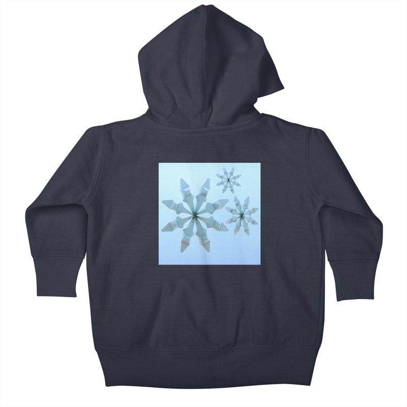 Snowflakes (blue) Kids Baby Zip-Up Hoody by Me&My3D