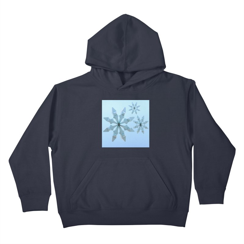 Snowflakes (blue) Kids Pullover Hoody by Me&My3D