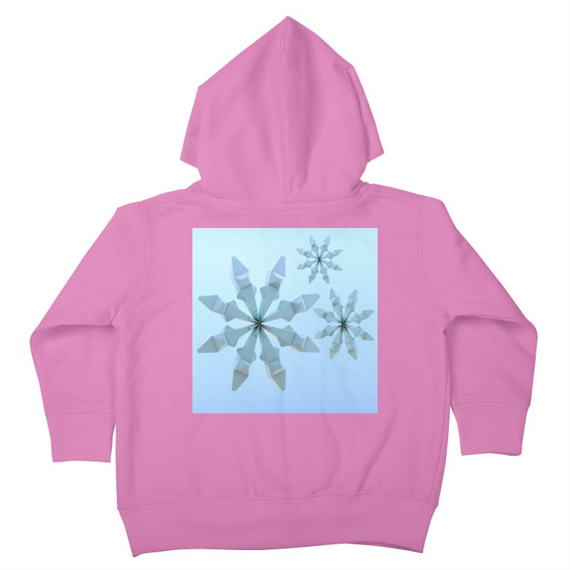 Snowflakes (blue) Kids Toddler Zip-Up Hoody by Me&My3D