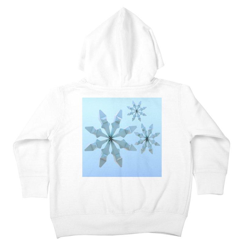 Snowflakes (blue) Kids Toddler Zip-Up Hoody by Me&My3D
