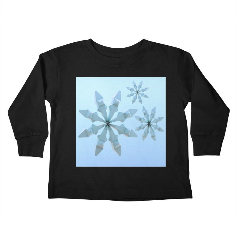 Snowflakes (blue) Kids Toddler Longsleeve T-Shirt by Me&My3D